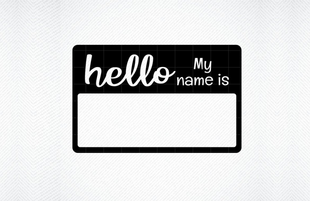 Hello My Name Is SVG Name Tag SVG Vector Image Cut File