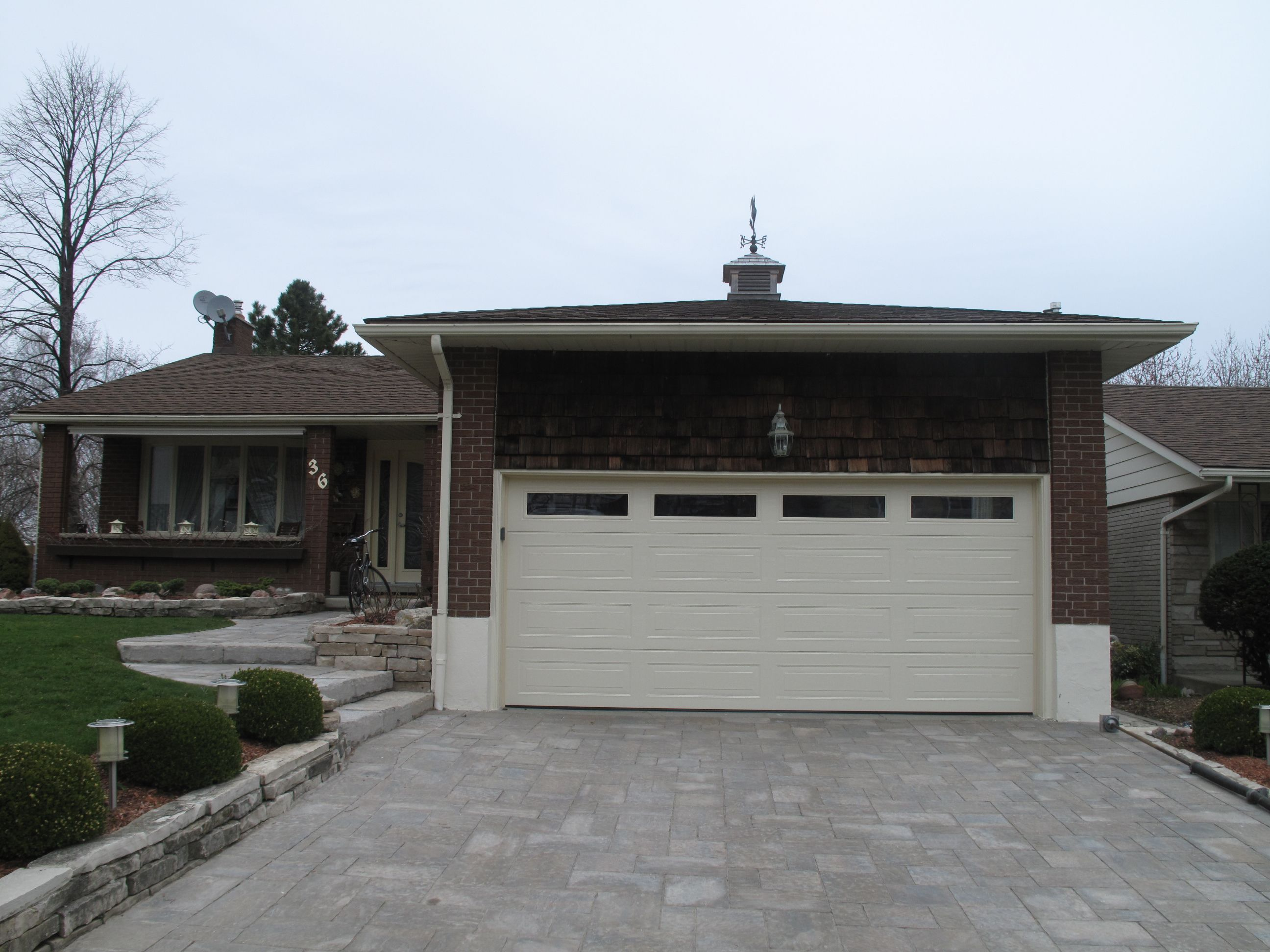 Hormann Taurus Ranch Panel In Almond With Insulated Duratec
