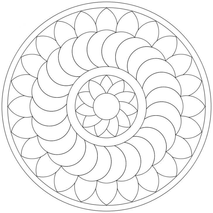 Mandala Ausmalbild Nr 37