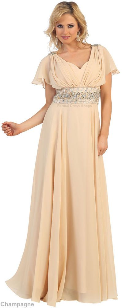 SALE NEW MODERN MOTHER of the BRIDE GROOM GOWN FORMAL EVENING DRESS UNDER $100