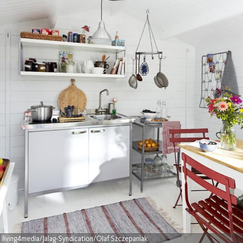 Kleine Küche stylisch einrichten Gartenhaus