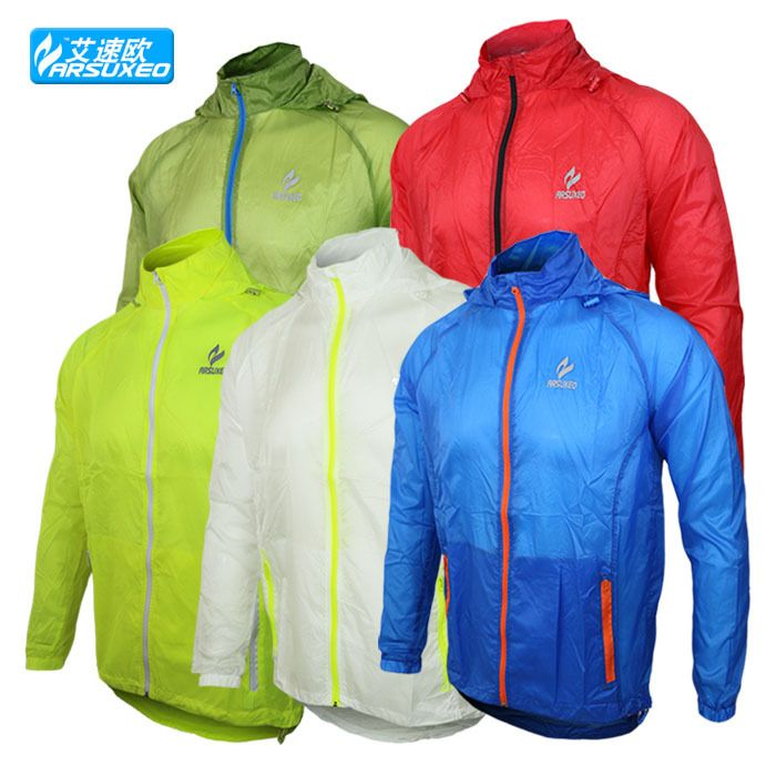 ARSUXEO Athletic Brand Outdoor Sports Men Running Jacket Windproof ...