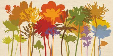 quadri fiori stilizzati - Cerca con Google | casa | Stampa su tela ...