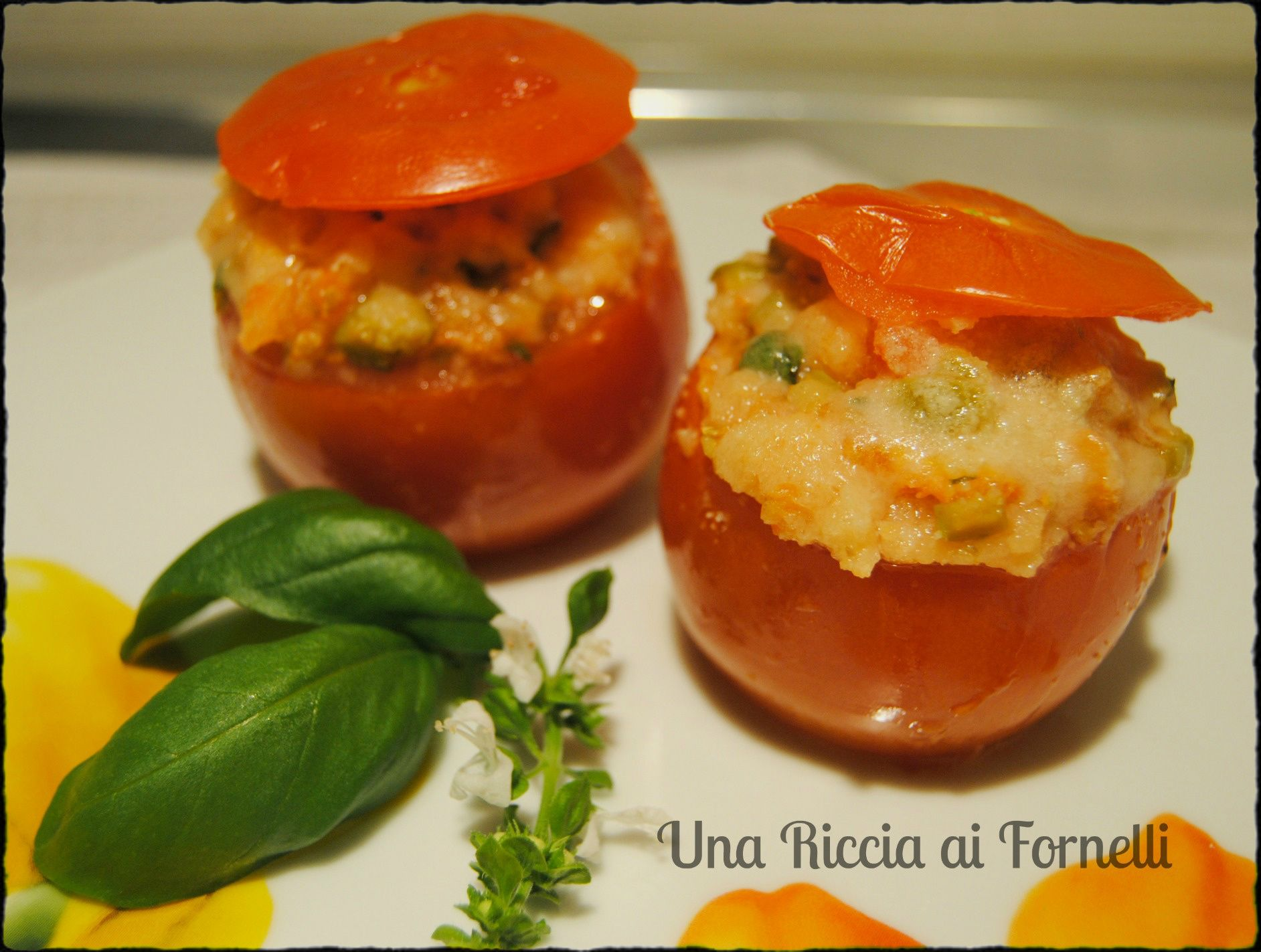Pomodori ripieni al microonde ricetta microonde ricetta pomodori ricette al microonde - Cucinare a microonde ...