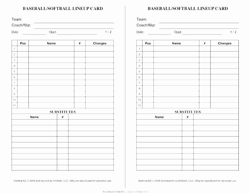 Softball Lineup Cards Template Elegant Free Printable Softball Team Roster Template Basketball Card Template Templates Flyer Design Templates
