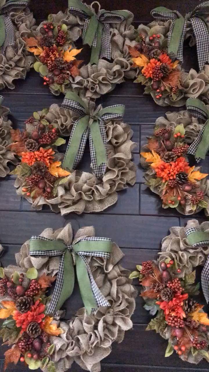 Photo of Burlap fall wreaths