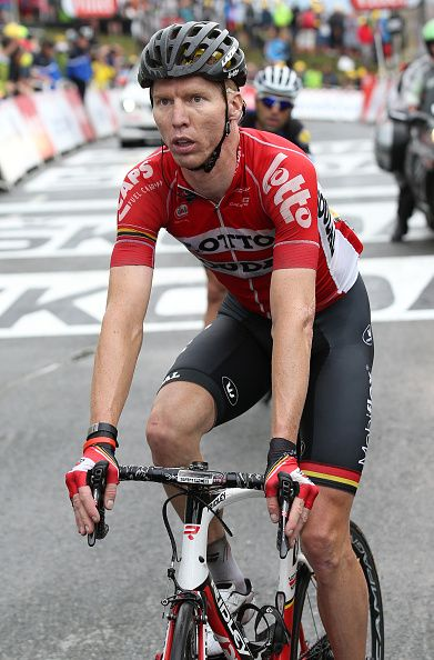 TDF2016 Marcel Sieberg of Germany and Lotto Soudal crosses the finish line  of stage 19 of the Tour de France 2016 a stage between Albertville and  Saint. cfadcf161