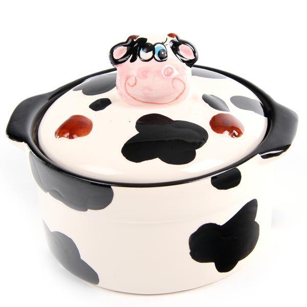 Cow Cooking Pot Kitchen Decor