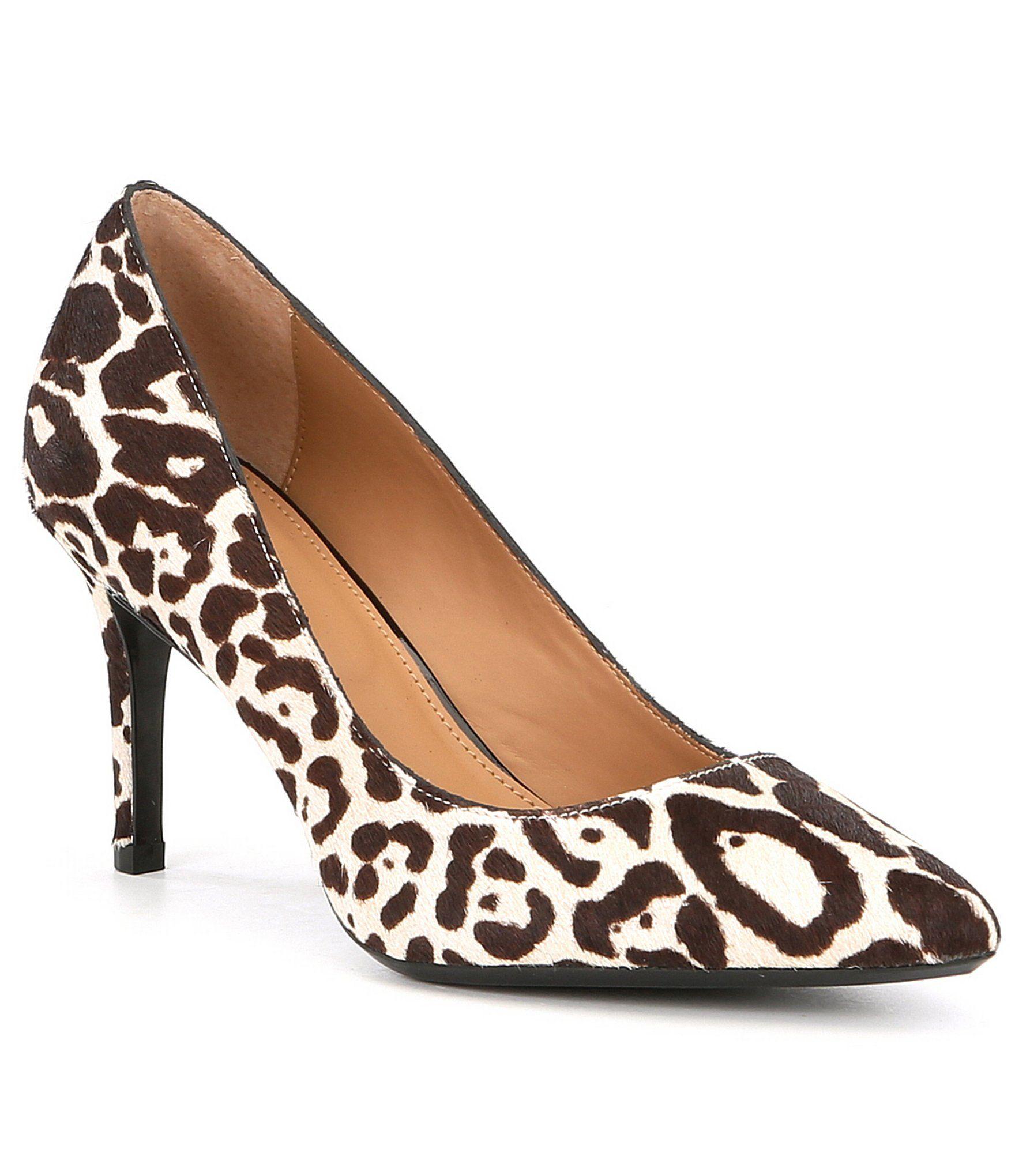 Calvin Klein Gayle Leopard Calf Hair Pumps   All Animal