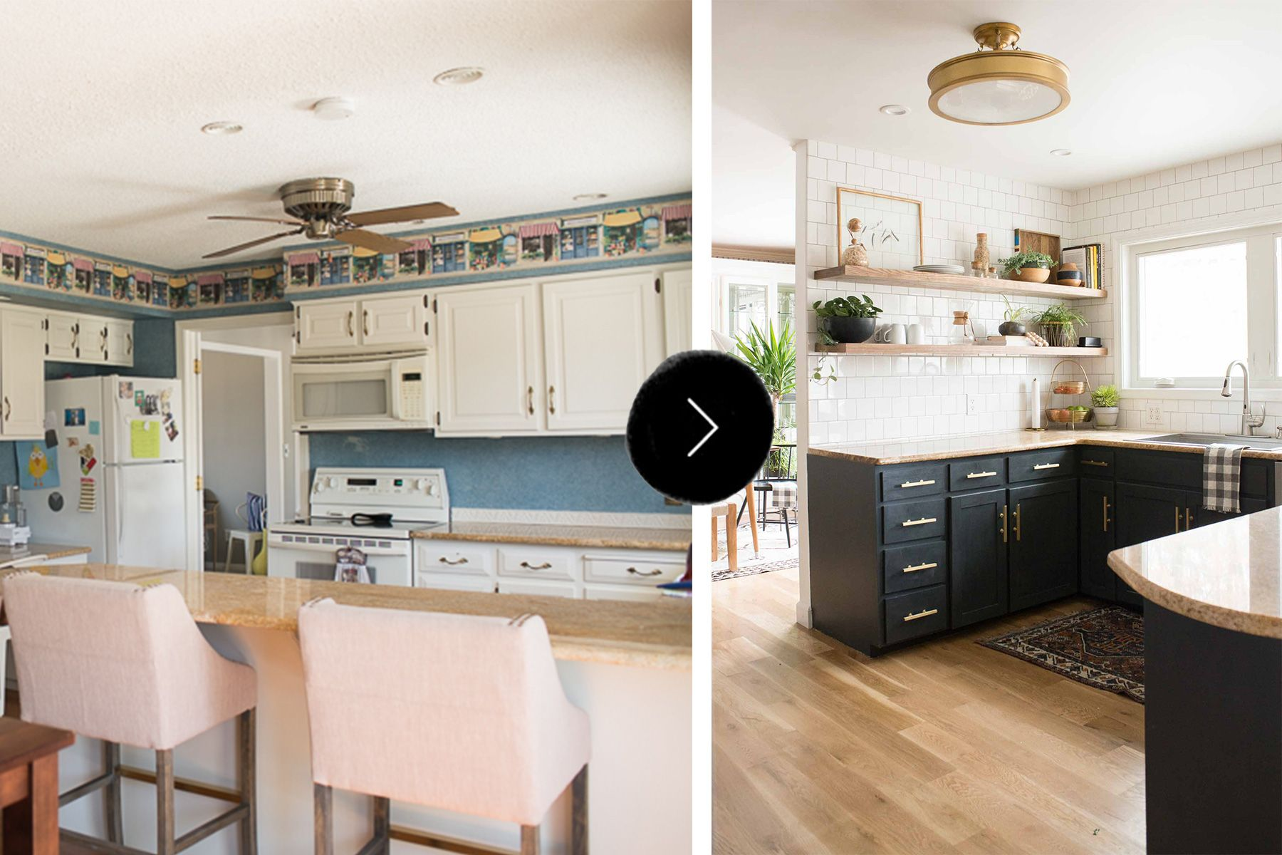 Before After A Budget Conscious Kitchen And Dining Room Makeover Simple Kitchen Remodel Affordable Kitchen Remodeling Kitchen Remodel Layout