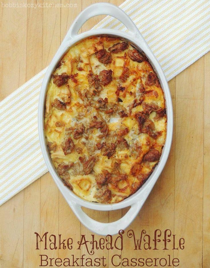 Bobbi's Kozy Kitchen: Make Ahead Waffle Casserole for Back to School #SundaySupper