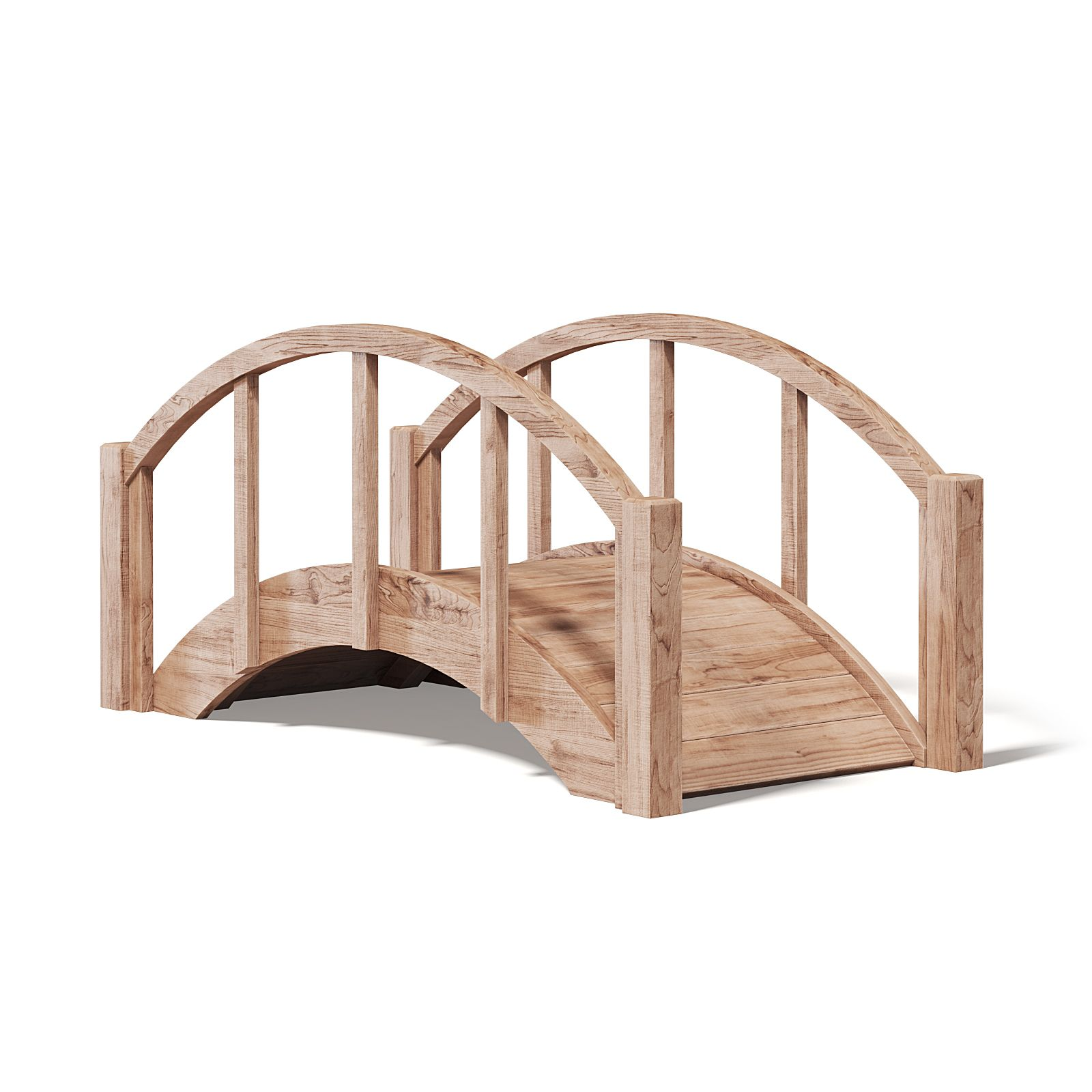 Small Wooden Bridge 3d Model Wooden Small Model Bridge