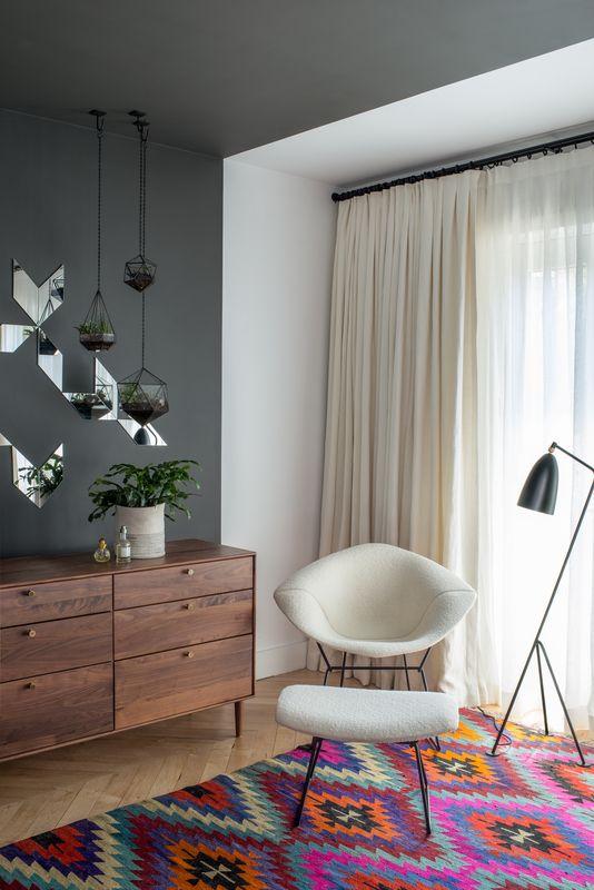 Design Icon Greta Grossman Master bedroom, Ottomans and Bedrooms