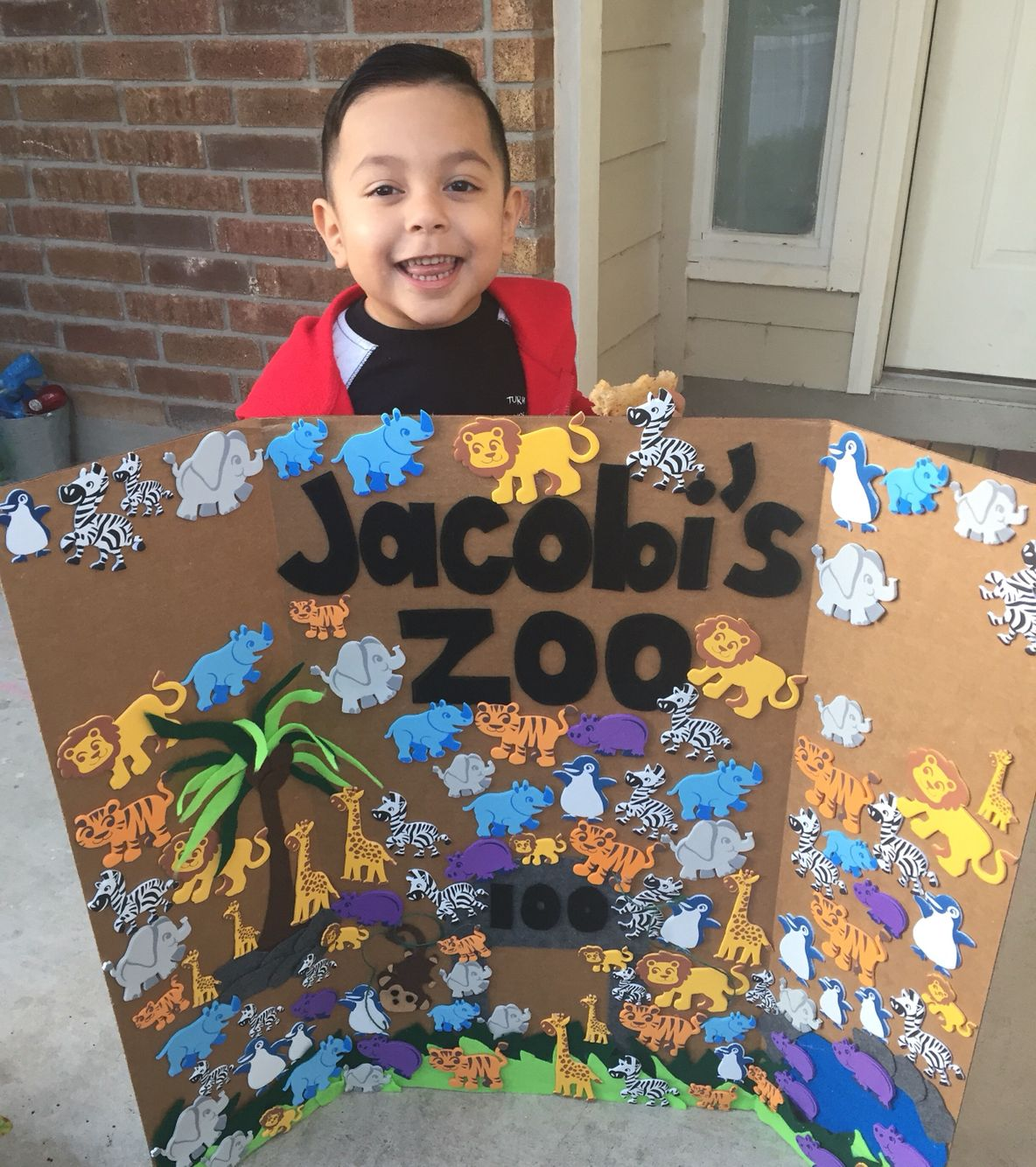 100 Days Of School Project For Boys, Zoo Animals, Arts And