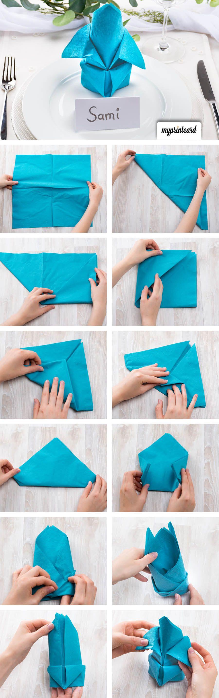 stoffserviette oder papierserviette was eignet sich besser zum falten von servietten auf der hochzeit - Weihnachtsservietten Basteln