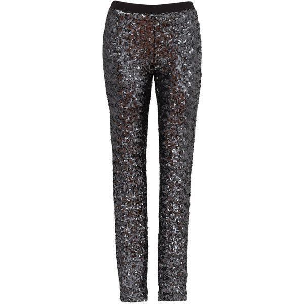 874019c1f3bc64 Rental BB Dakota Black Keaton Legging (230 GTQ) ❤ liked on Polyvore  featuring pants, leggings, black, dresses, elastic waistband pants, black  sequin ...