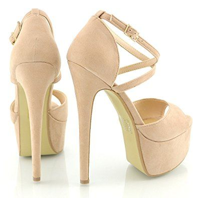 Essex Glam Damen Riemchen Plateau Sandalen Stiletto Absatz Offene Pumps Absätze Sneaker Offene Sandalen S Offene Pumps Hochhackige Schuhe Extravagante Schuhe