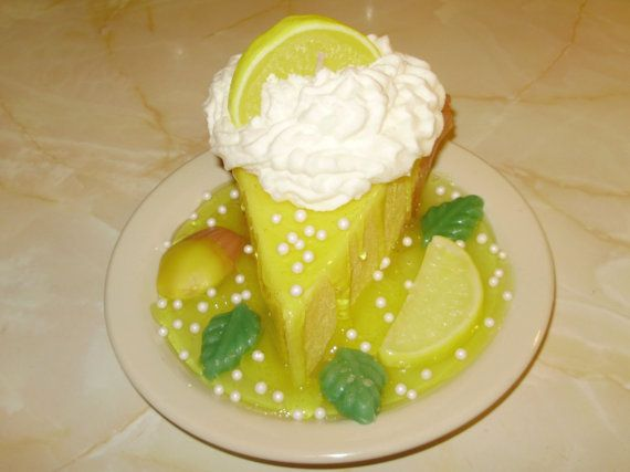 Lemon Meringue Pie  Pie Slice Candle on by FreshBakeryCandles, $15.95