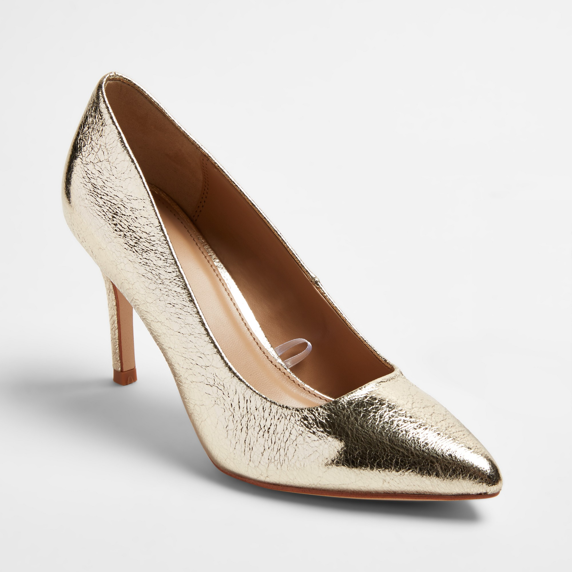 7bf9f25eaae5 Women s Gemma Wide Width Pointed Toe Pumps - A New Day Gold 8.5W