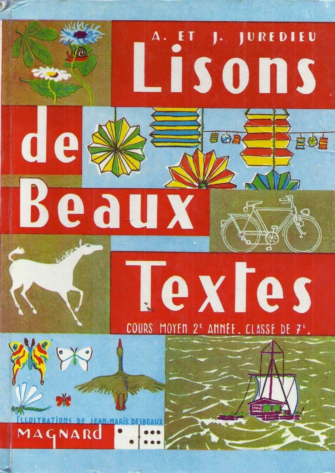 Juredieu Lisons De Beaux Textes Cm2 1967 Beau Texte