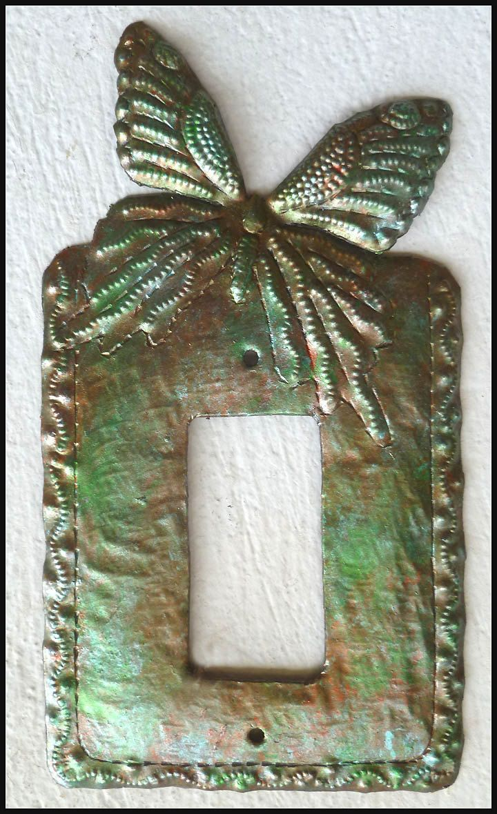 Butterfly Garden Decorative Single Rocker//Decora Light Switch Plate Cover