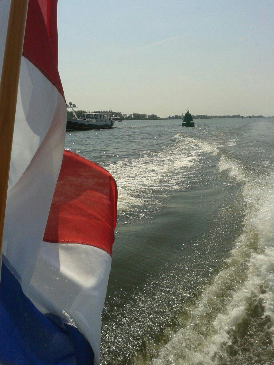 "Dutch flag ""Sir William"" National parc the Biesbosch - M.J.E.C Tackenberg"