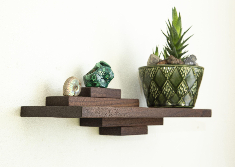 Dutch Modern Wood Floating Shelf Mid Century Wall Decor