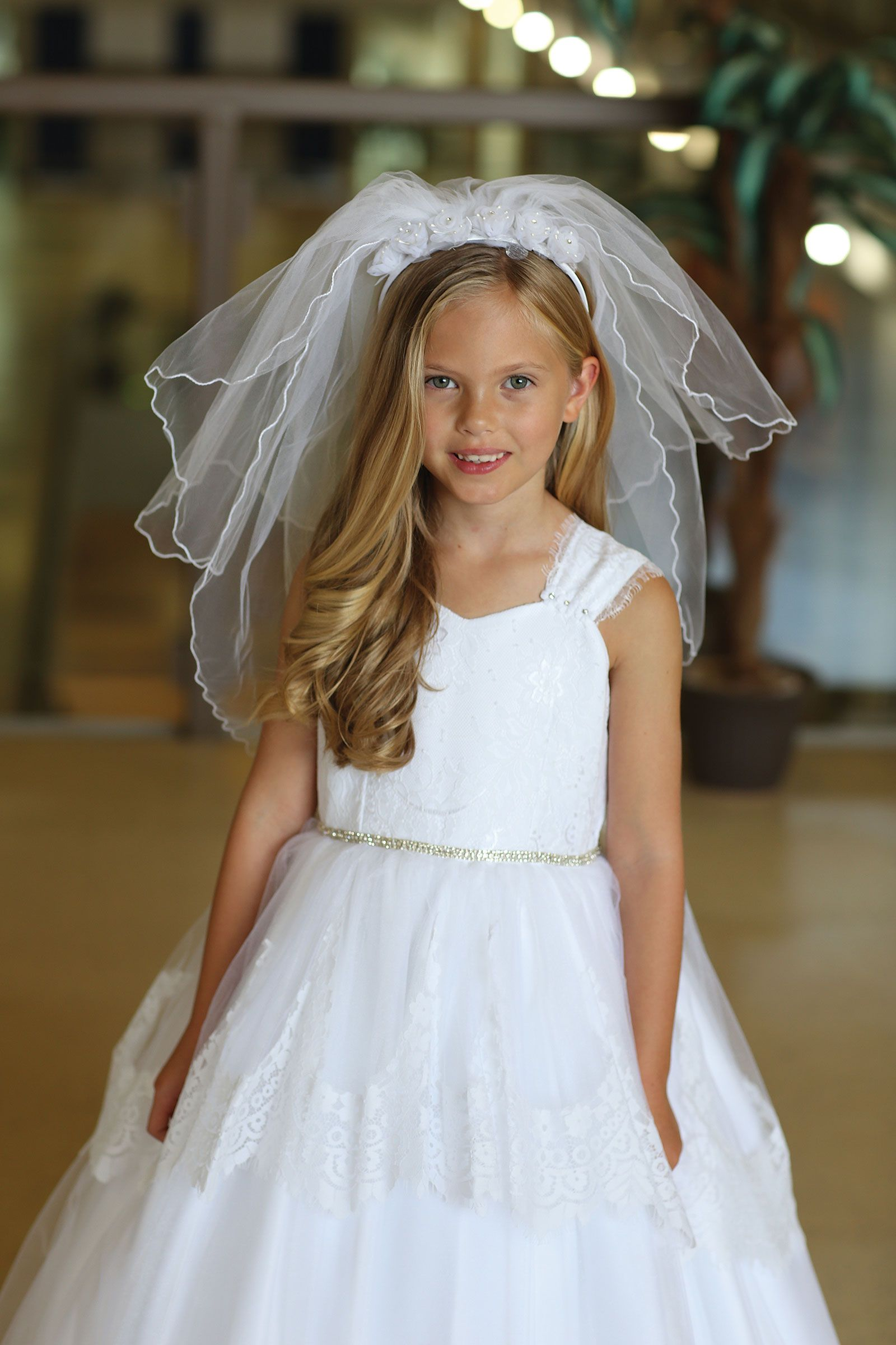 Agvl1212 Communion Veil Style Vl1212 White Headband With Double