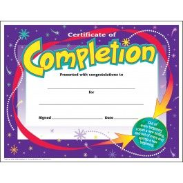 30 Kids Certificate Of Completion Awards Pack  Congratulations Certificate Template
