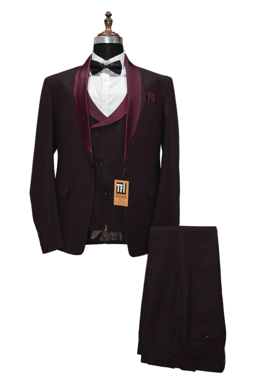 Burgundy Velvet Blazer Mens Easter Evening Party Wear Dinner Jacket Smoking Coat