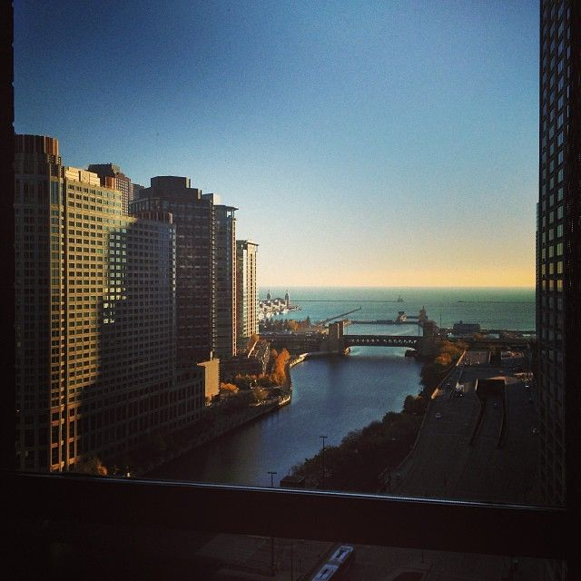 Chicago hotel view