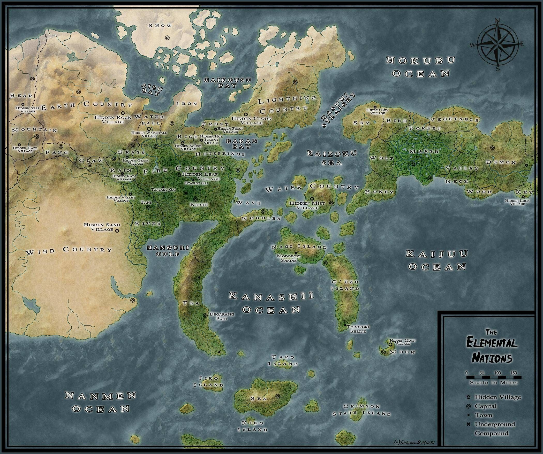 How many nations are there in the Naruto universe?   Anime & Manga