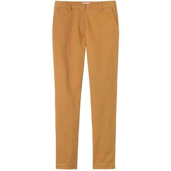 Toast New Henry Trouser (855 ARS) ❤ liked on Polyvore featuring pants, ginger, tapered leg pants, stretchy pants, peg leg pants, stretch trousers and zip pants