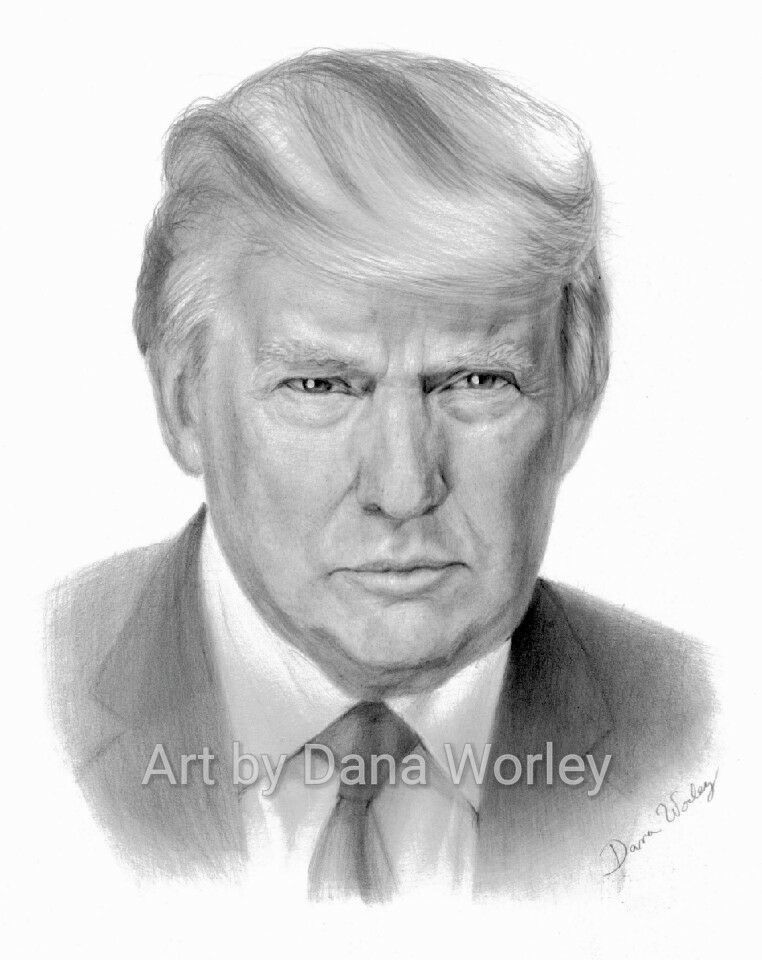 how to draw donald trump