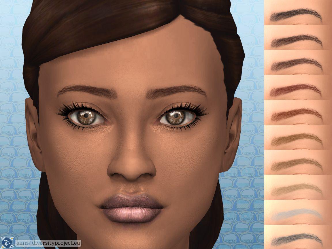 Mod The Sims Natural Eyebrows Natural Eyebrows Sims