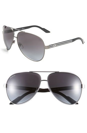 4ef7e3f86d7 Gucci Metal 63mm Aviator Sunglasses available at  Nordstrom