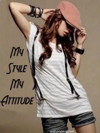 Download Hd Wallpaper Of My Style My Attitude Girl Attitude Girl Profile Pic For Your Mobile Cell Phone Girl Attitude My Attitude Attitude