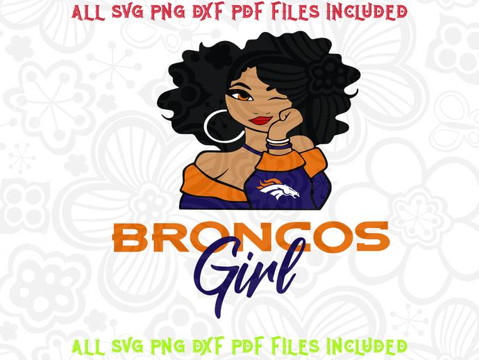 Broncos Girl svg, Denver Broncos,NFL svg, Football svg
