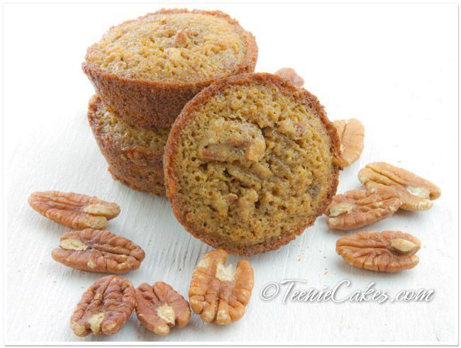 Pecan Pie Cakelets/Muffins recipe   TeenieCakes.com