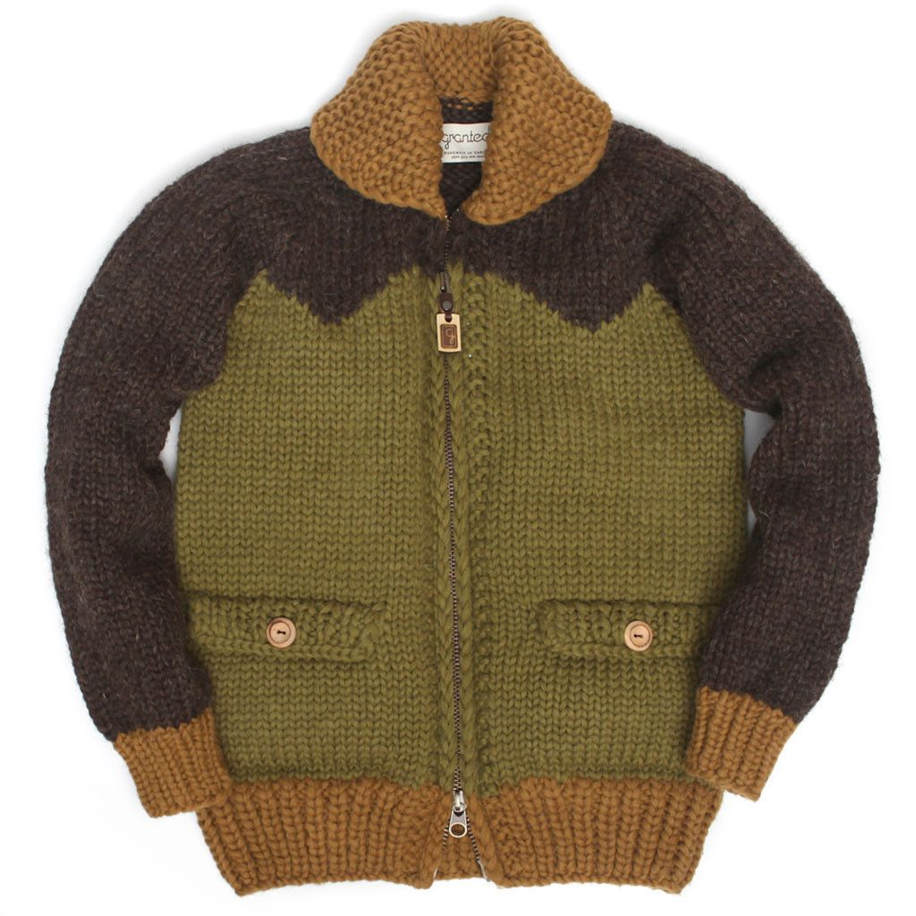 Three Tone Block Earth Sweaters, Cowichan sweater