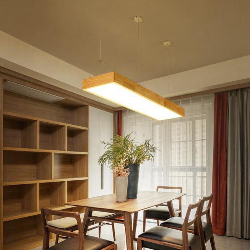 kitchen table lighting unitebuys modern. Study Room Lighting. Lukloy Pendant Lights Natural Wood Modern Rectangular Long Lamp Hotel Hall Shop Kitchen Table Lighting Unitebuys U