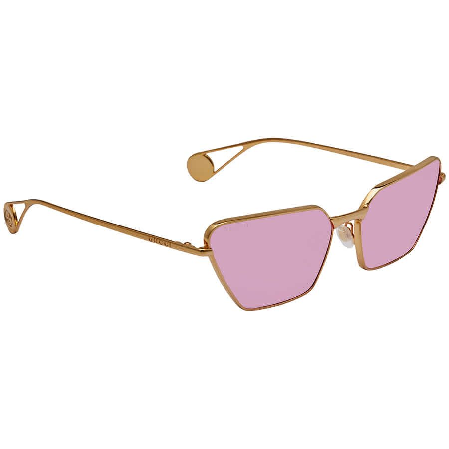Gucci Pink Geometric Ladies Sunglasses GG0538S 005 63