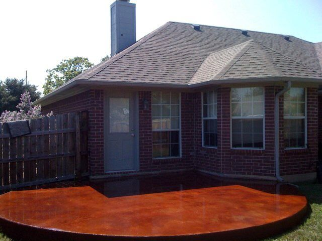 Groundscape, A Fort Worth Landscape Company, Installs Landscape Patio With  A Cola Stain.