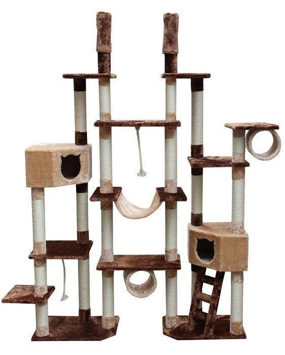kitty cat scratching post play gym furniture mansion tree toy pet ferret house 1 - Cat Jungle Gym