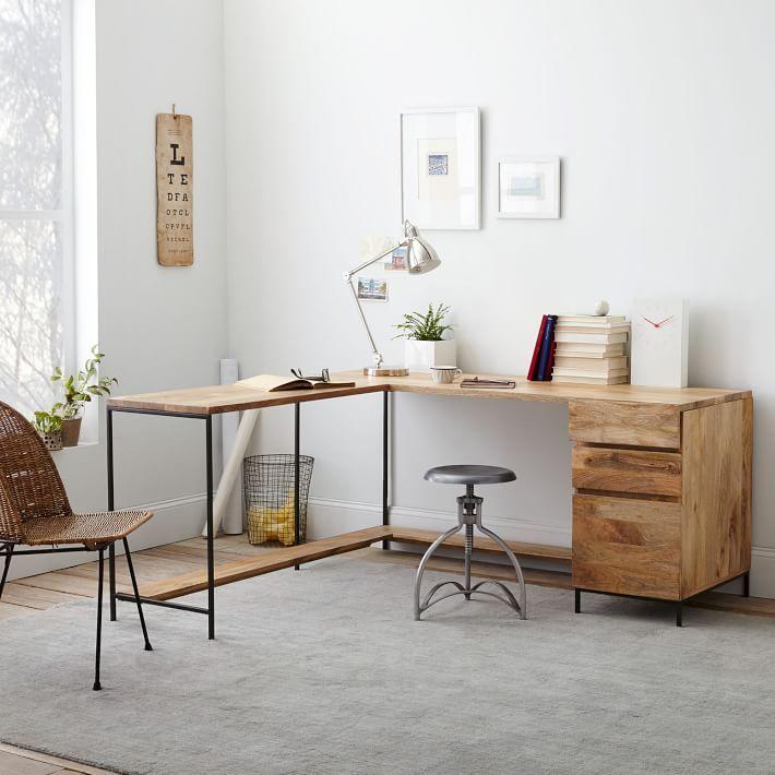 Industrial modular desk set in 2019 carolyn 39 s office - Industrial bedroom furniture sets ...