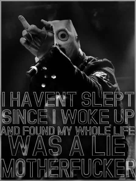 Pin by Alexus on Slipknot | Slipknot lyrics, Slipknot ...