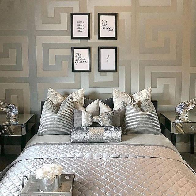 Versace Greek Key Silver Wallpaper 935235 in 2020 Silver