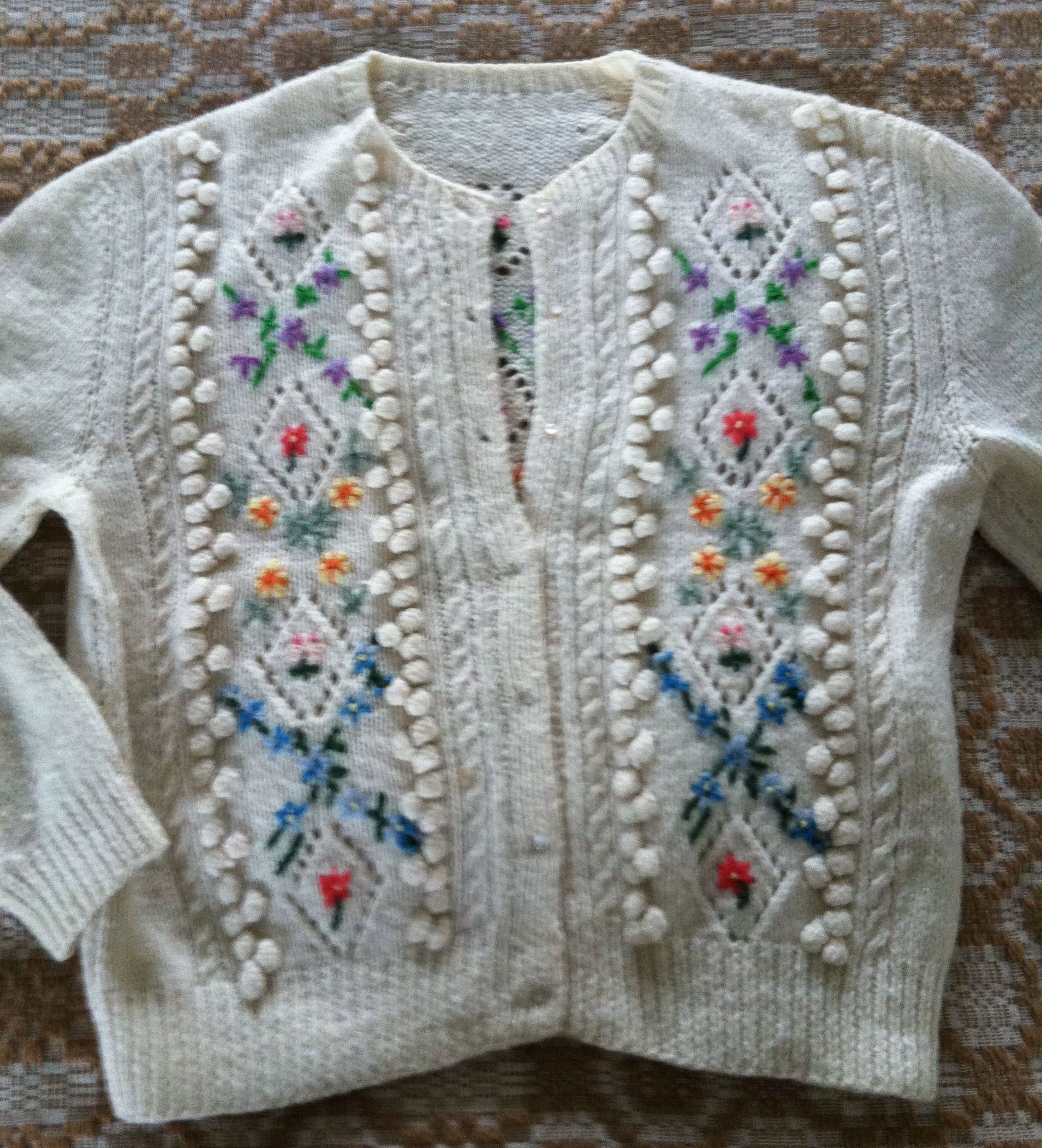 c5c7dd268cc61e Tyrolean Sweater. There are a few precious sweaters that were knitted by my  husband s mother