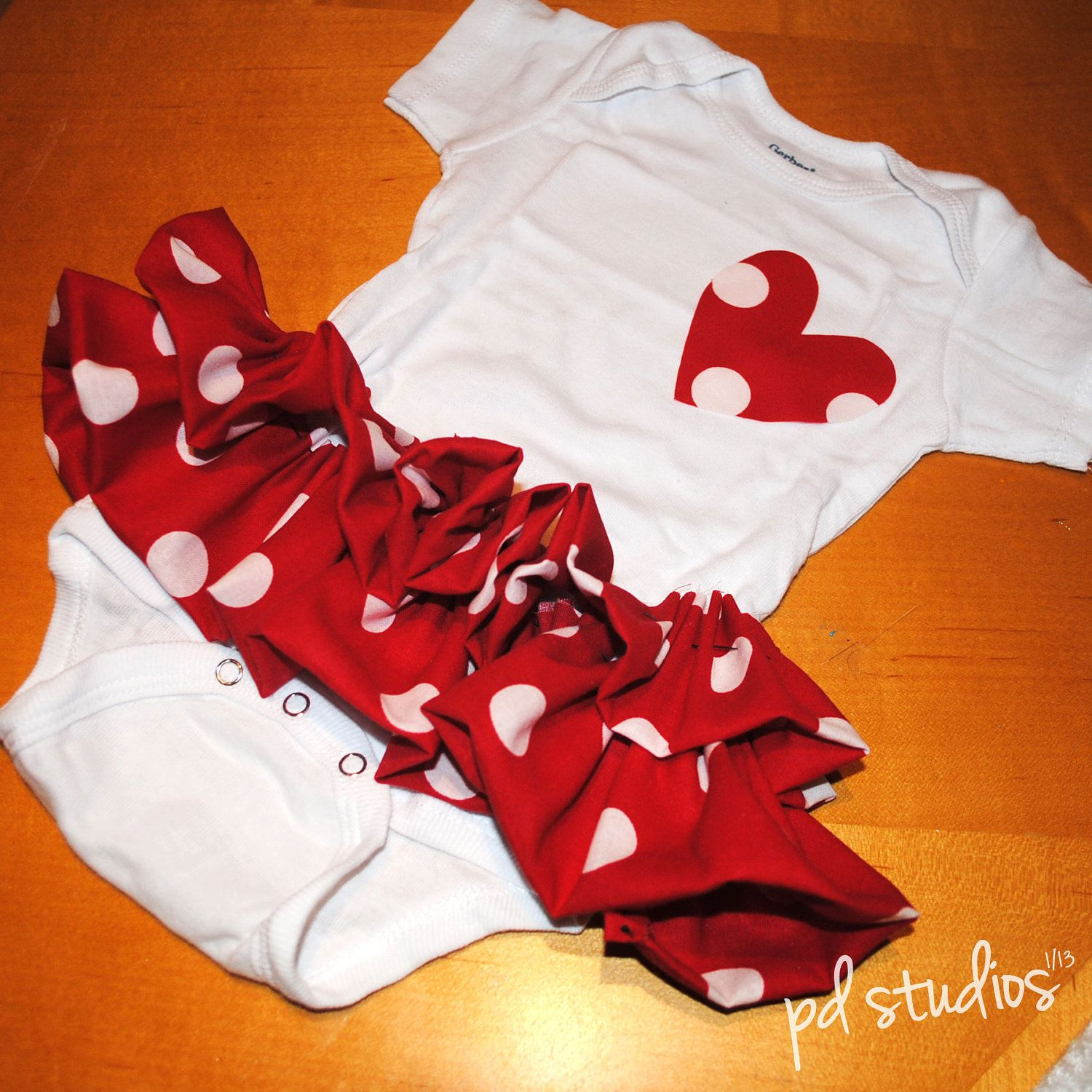 Valentine's Couture Onesies & Headband by pdstudiosstore on Etsy, $14.99