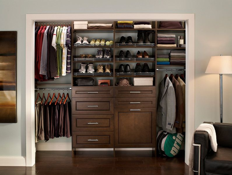 Cleaned Up Men S Closet Contemporary Closet By Closetmaid Men Closet Diy Closet Shelves Closet Organizer With Drawers